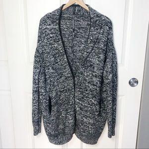 Lululemon Cardi All Day Sweater Black White Wool